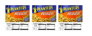 "3 PACK Peanuts 2.5"" x 2.5"" Candy Vending Labels Sticker NUTRITION"