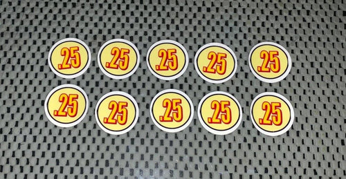 PRICE Stickers for Vending Candy Labels Machines