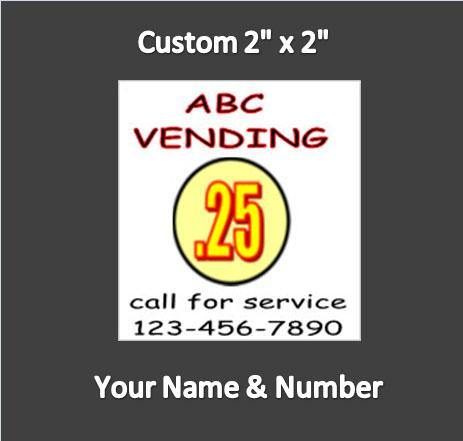 6 Pack CONTACT ID PRICE Sticker Service Your Name & Number 2