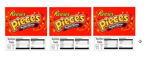 "3 PACK Reeses Pieces 2.5"" x 2.5"" Candy Vending Labels Sticker NUTRITION"