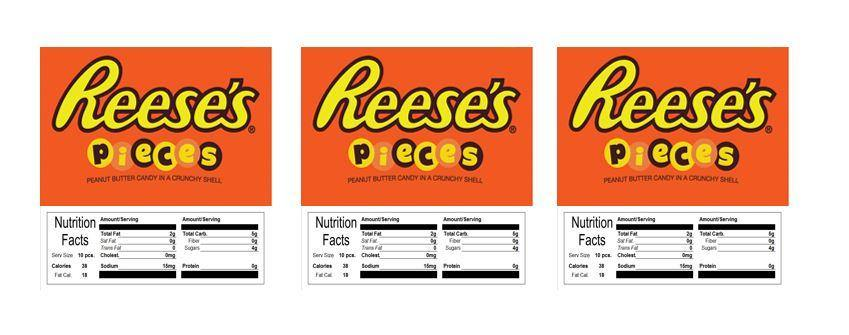 reese pieces candy vending machine labels stickers