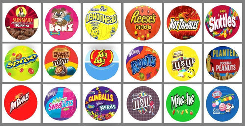 ROUND Stickers NO PRICE for Vending Candy Labels Machines