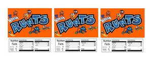 "3 PACK Runts 2.5"" x 2.5"" Candy Vending Labels Sticker NUTRITION"
