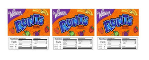 "3 PACK Runts 2.5"" x 2.5"" Candy Vending Labels Sticker NUTRITION (New Design)"