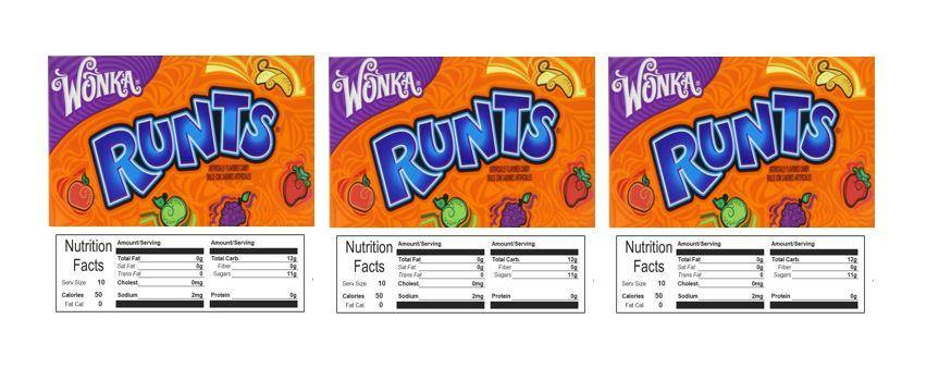 3 PACK Runts 2.5