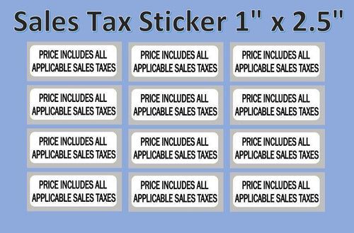 Sales Tax Misc Label Sticker Candy Vending