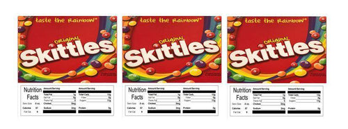 skittles candy vending machine labels stickers