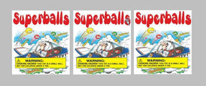 3 Pack BOUNCY BALL Vinyl Vending Candy Label Sticker A