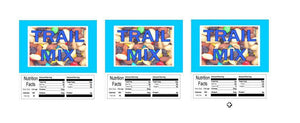 "3 PACK Trail Mix 2.5"" x 2.5"" Candy Vending Labels Sticker NUTRITION"