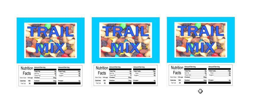 3 PACK Trail Mix 2.5