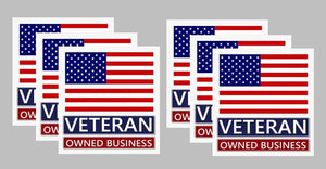 veteran owned busines label sticker