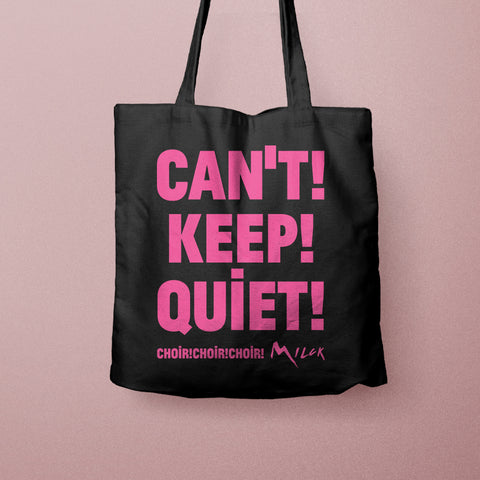 CCC CAN'T KEEP QUIET BAG