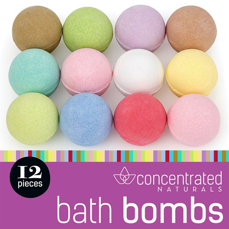 Set of 12 Scented Fizzy Spa Bath Ball Bombs