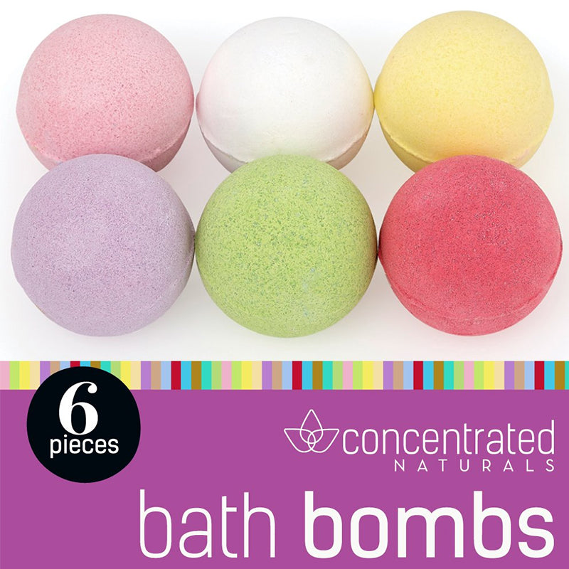 Set of 6 Scented Fizzy Spa Bath Ball Bombs