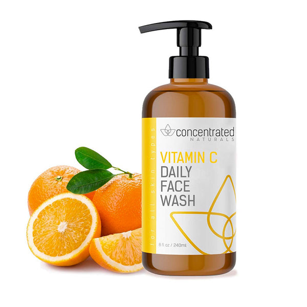 Vitamin C Face Wash Daily Cleanser w/Marine & Plant Extracts