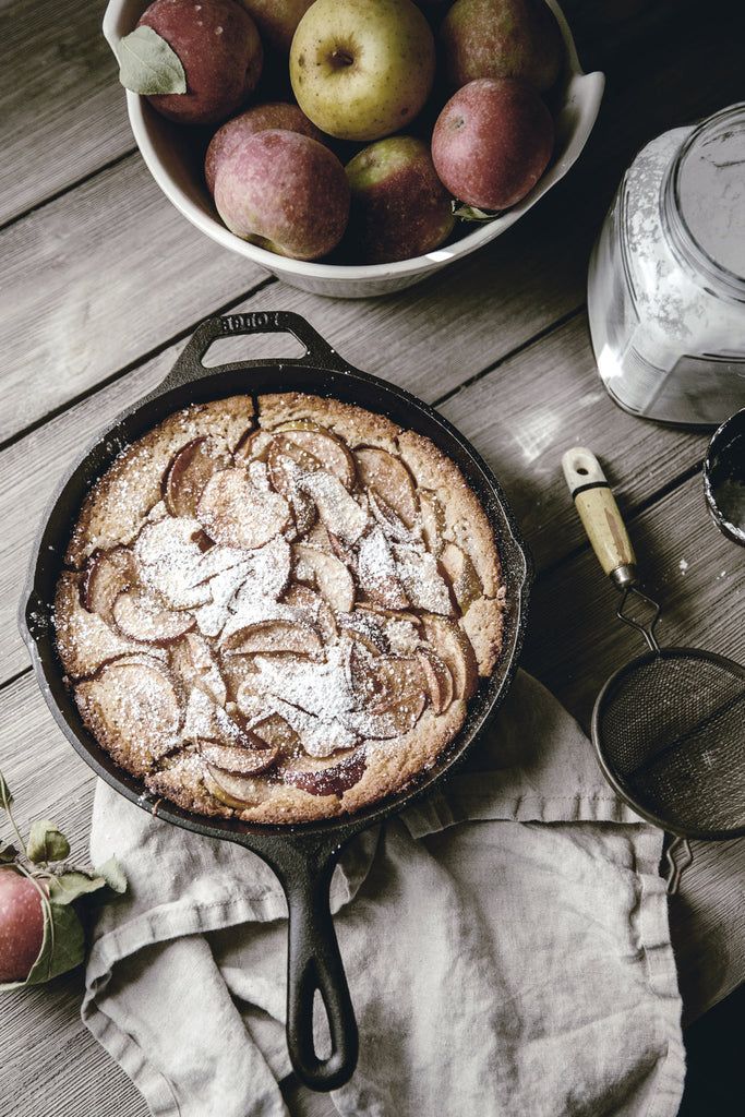Apple Buttermilk Skillet Cobbler.