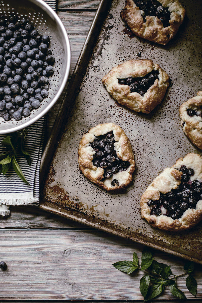 Rustic Blueberry Galette.