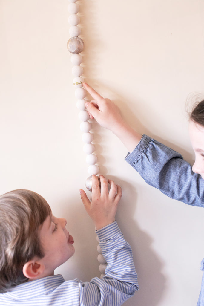 Wooden Bead Growth Chart