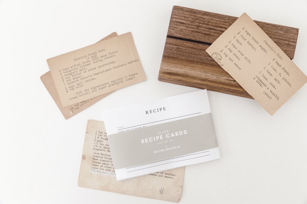 Wooden Recipe Card Holder - Bundle