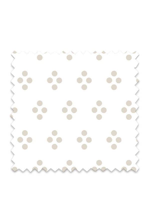 Vintage Dot Fabric in Oatmeal
