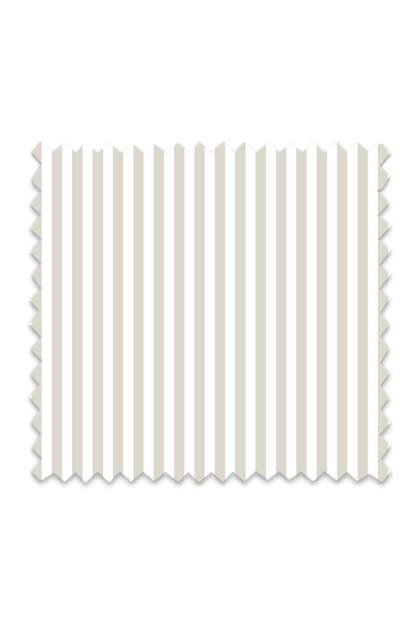 Awning Stripe Fabric in Oatmeal