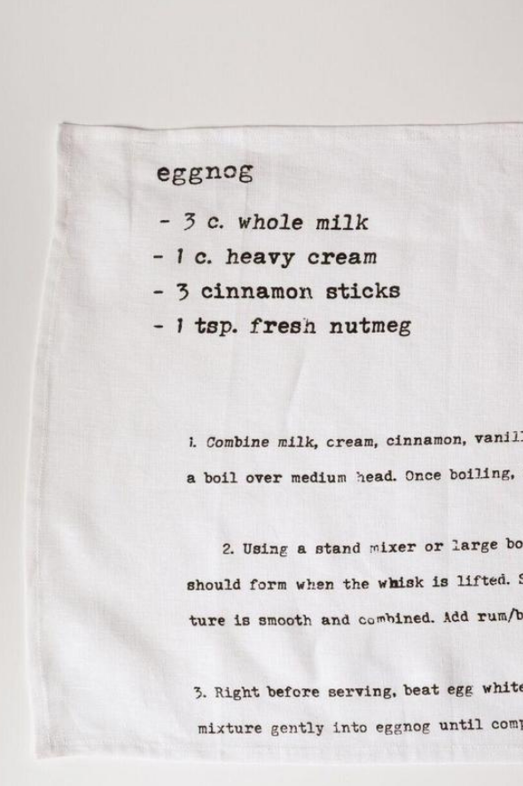 Family Recipe Collection Tea Towel (Eggnog)