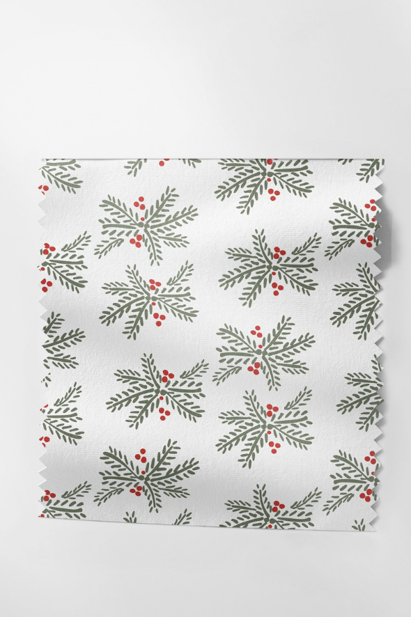 Holiday Fabric in Holly Berry