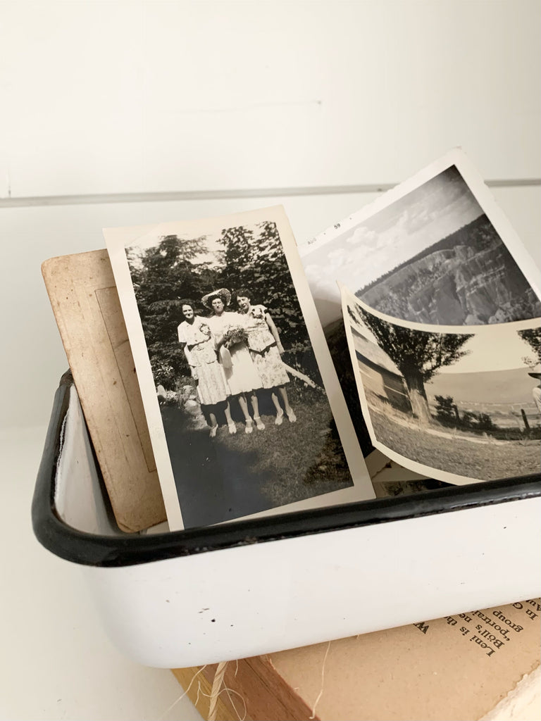 Vintage Black and White Small Photos
