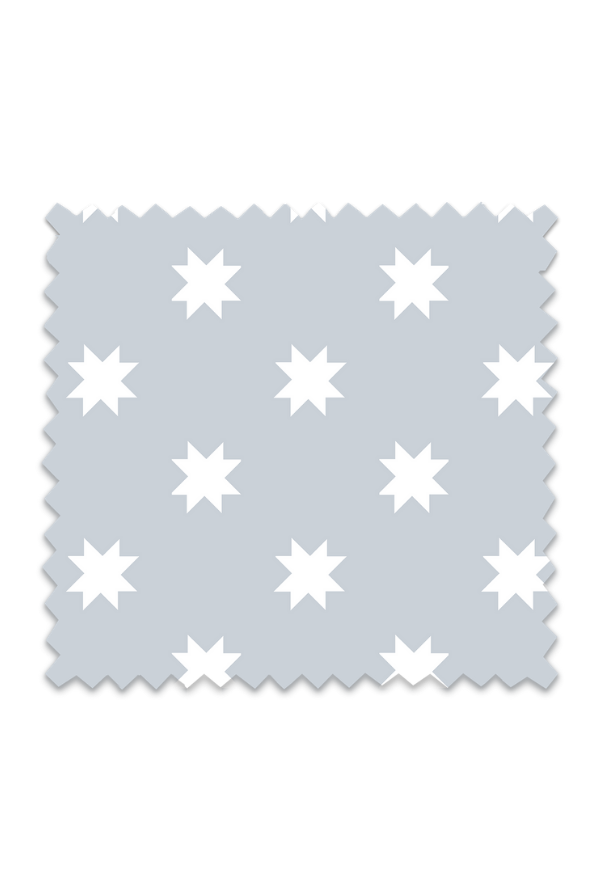 Sawtooth Star Fabric in Light Blue Background