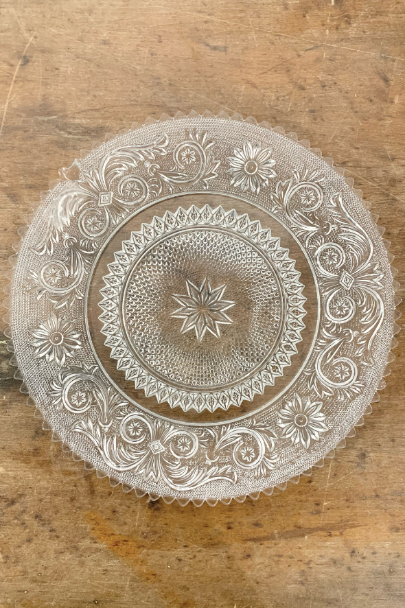Vintage Glass Assorted Plates and Bowls