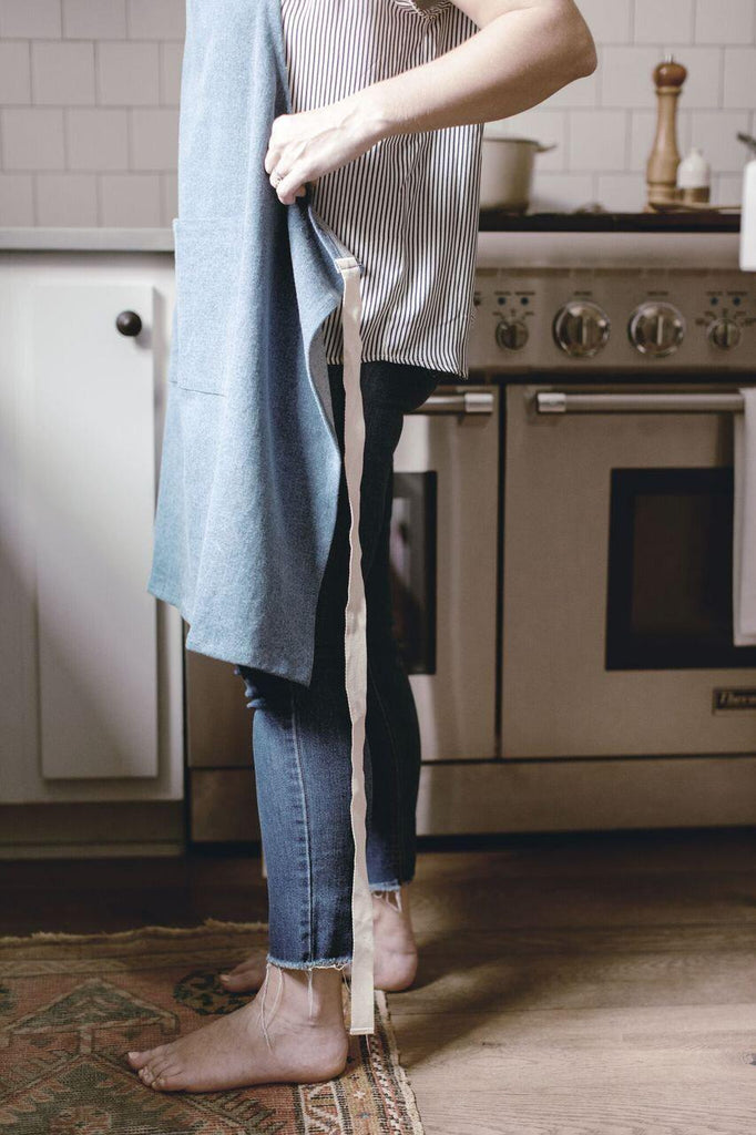 Denim Collection - Light Denim Apron-Heirloomed