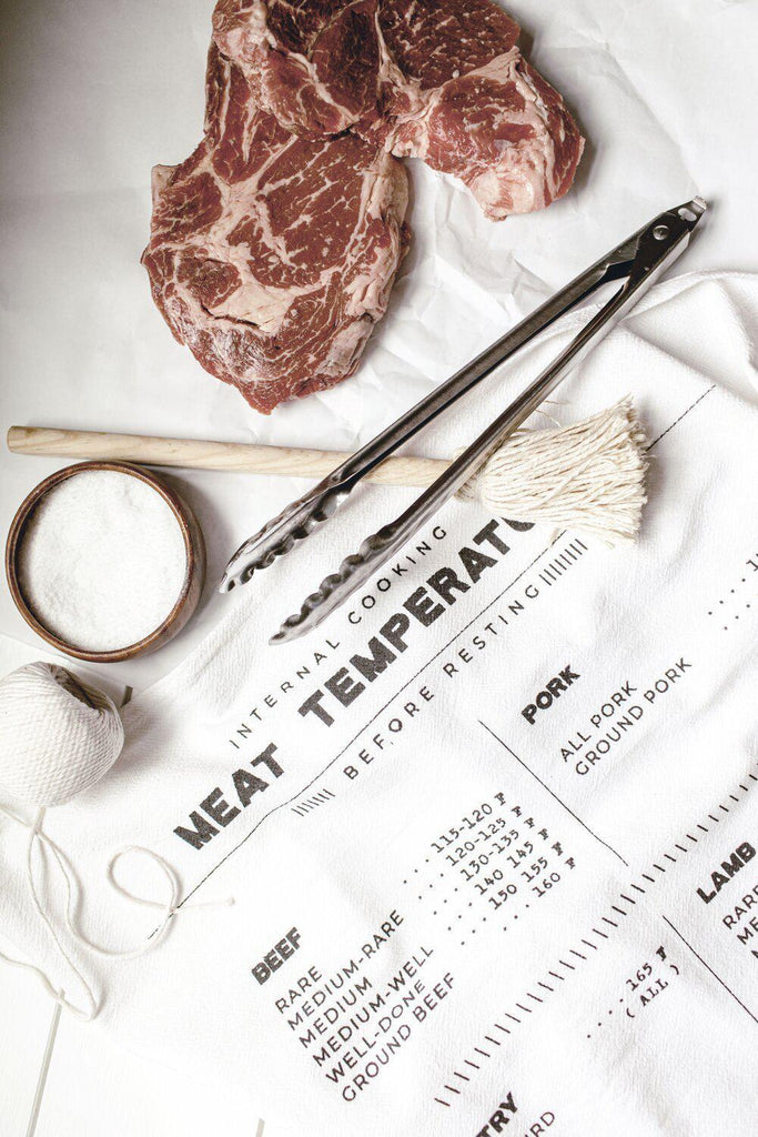 Family Recipe Collection - Meat Temperatures Tea Towel-Heirloomed