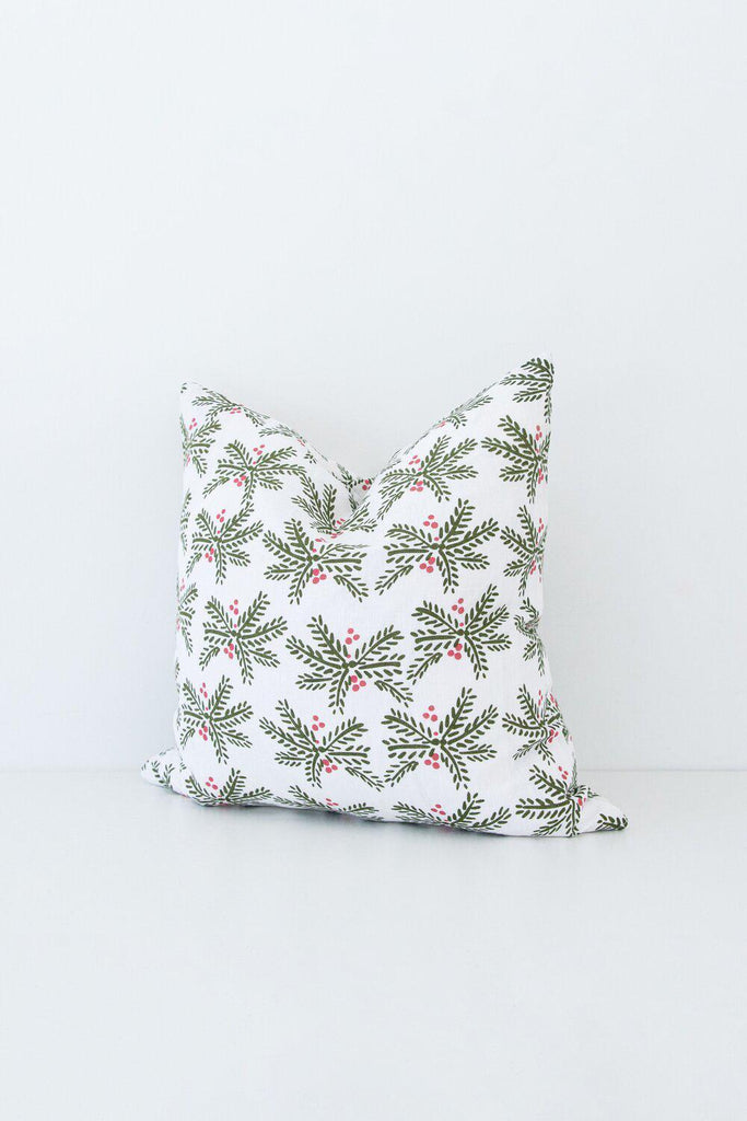 Holly Berry Pillow-Heirloomed