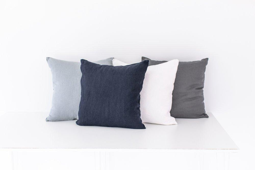 Keepsake Collection Navy Pillow Cover-Heirloomed