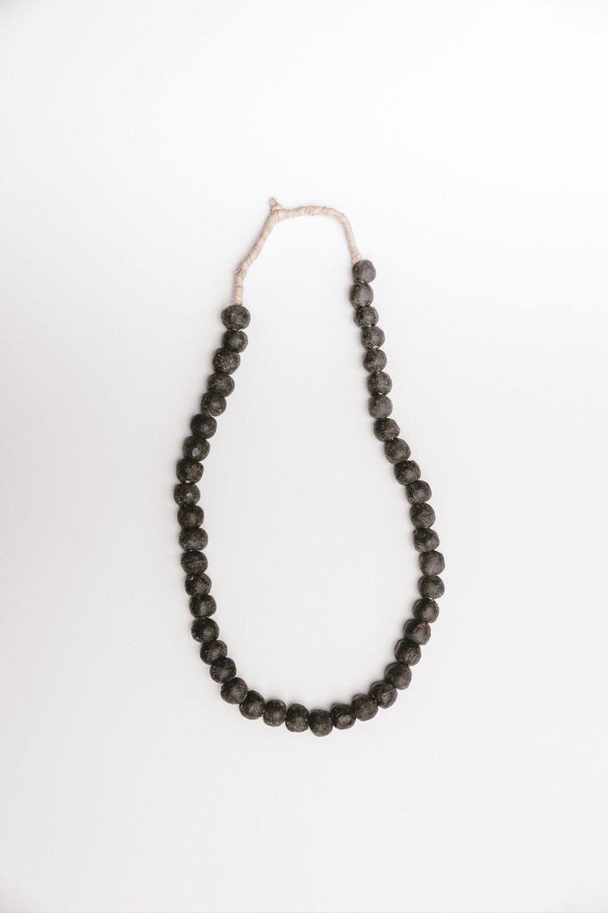 Market Sourced Glass Beads (Black)-Heirloomed