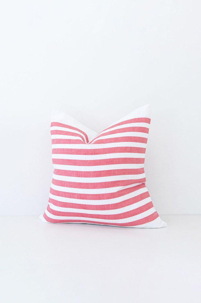 Medium Stripe Red Pillow Cover-Heirloomed
