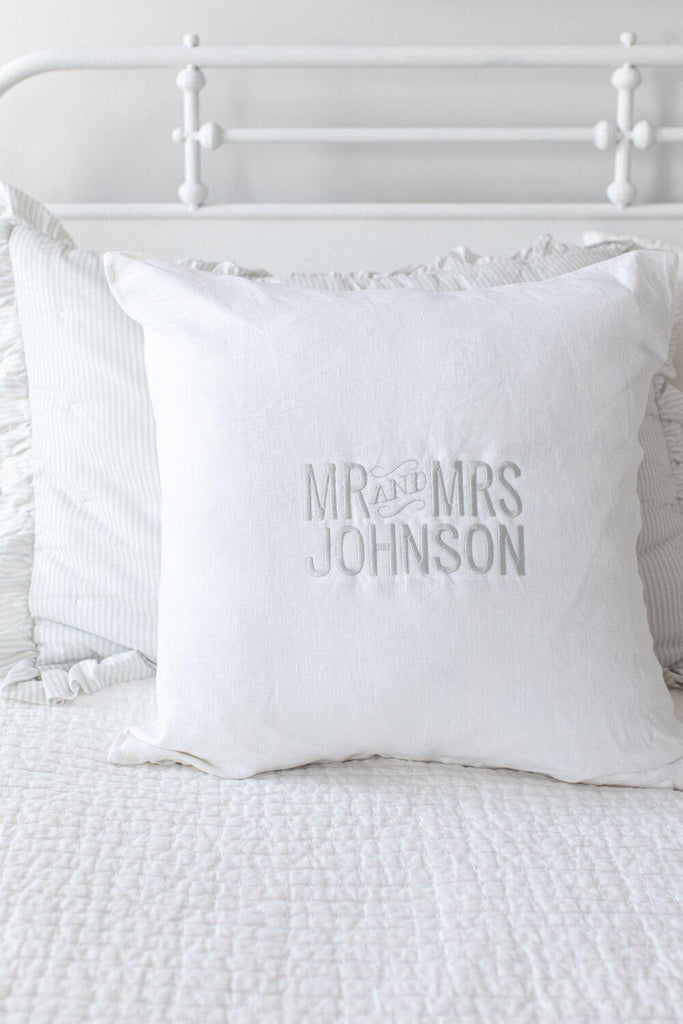Mr. + Mrs. Pillow-Heirloomed