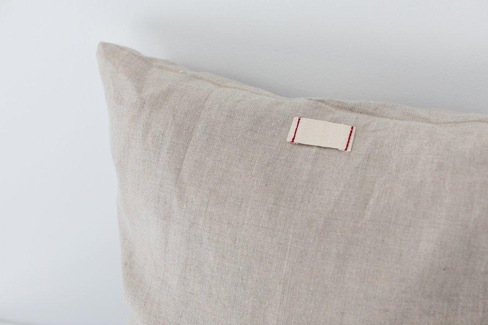 Oatmeal Linen Pillow Cover-Heirloomed