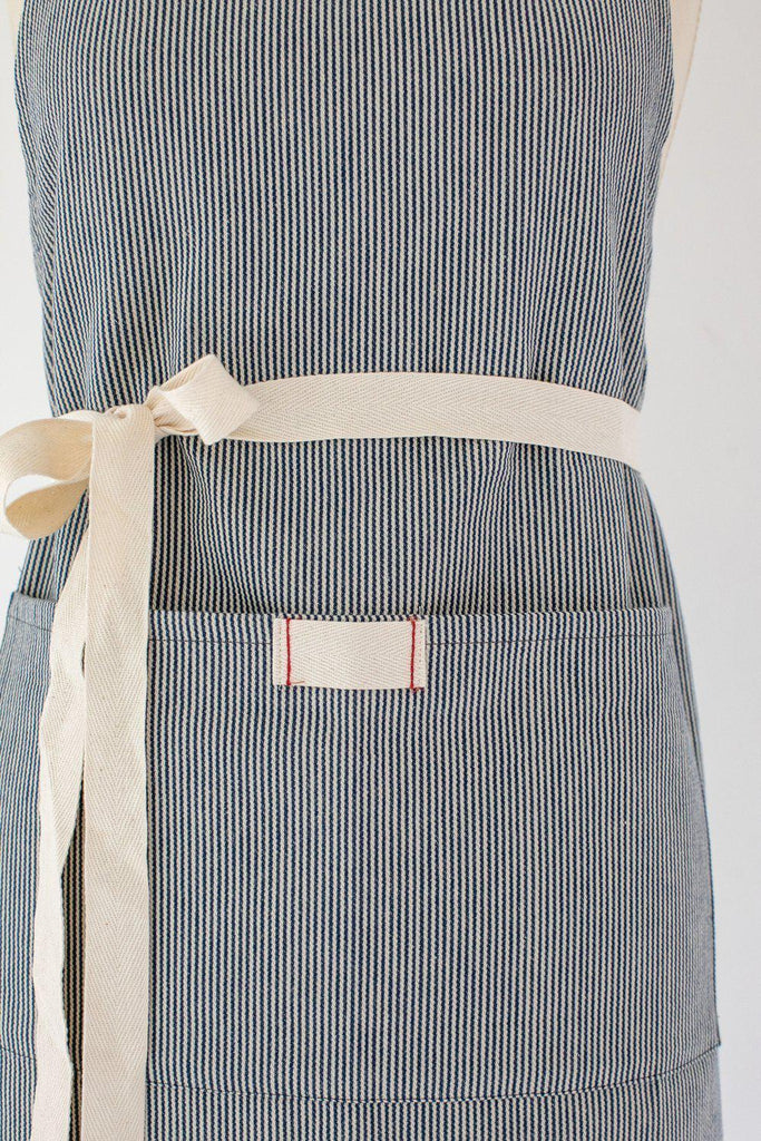 Railroad Stripe Full Bistro Apron-Heirloomed