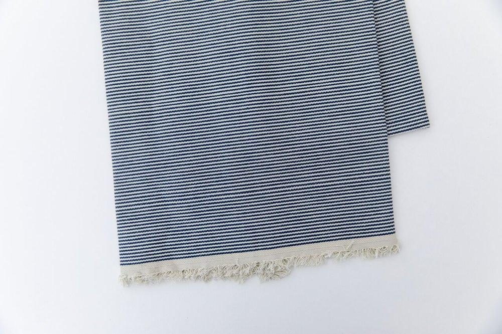 Railroad Stripe Selvedge Edge Tea Towels (set of 2)-Heirloomed