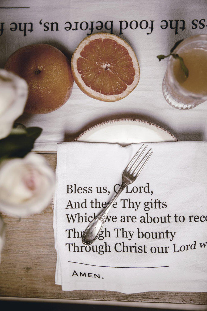 Simple Blessings Dinner Napkins (set of 4)-Heirloomed