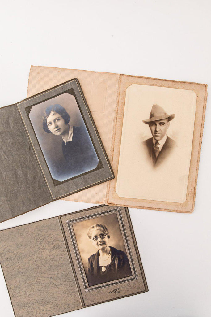 Vintage Black and White Portrait Photos-Heirloomed