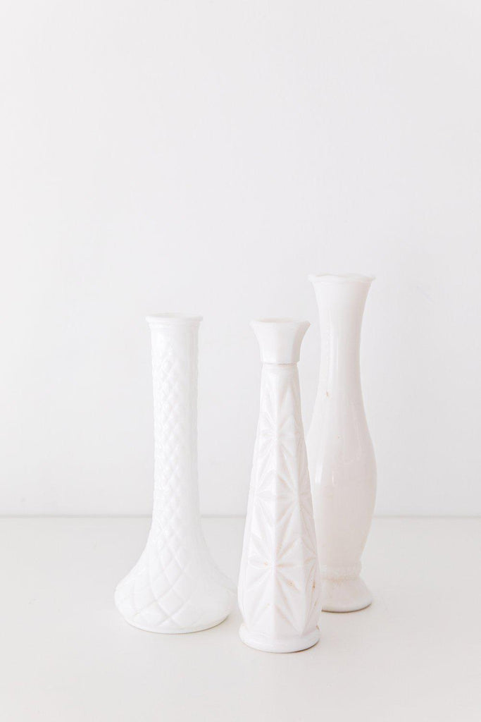 Vintage Milk Glass Vase-Heirloomed