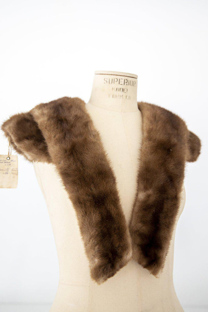 Vintage Mink Fur Stole Wrap-Heirloomed