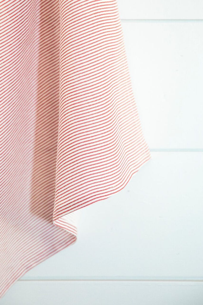 Vintage Stripe Tea Towel-Heirloomed