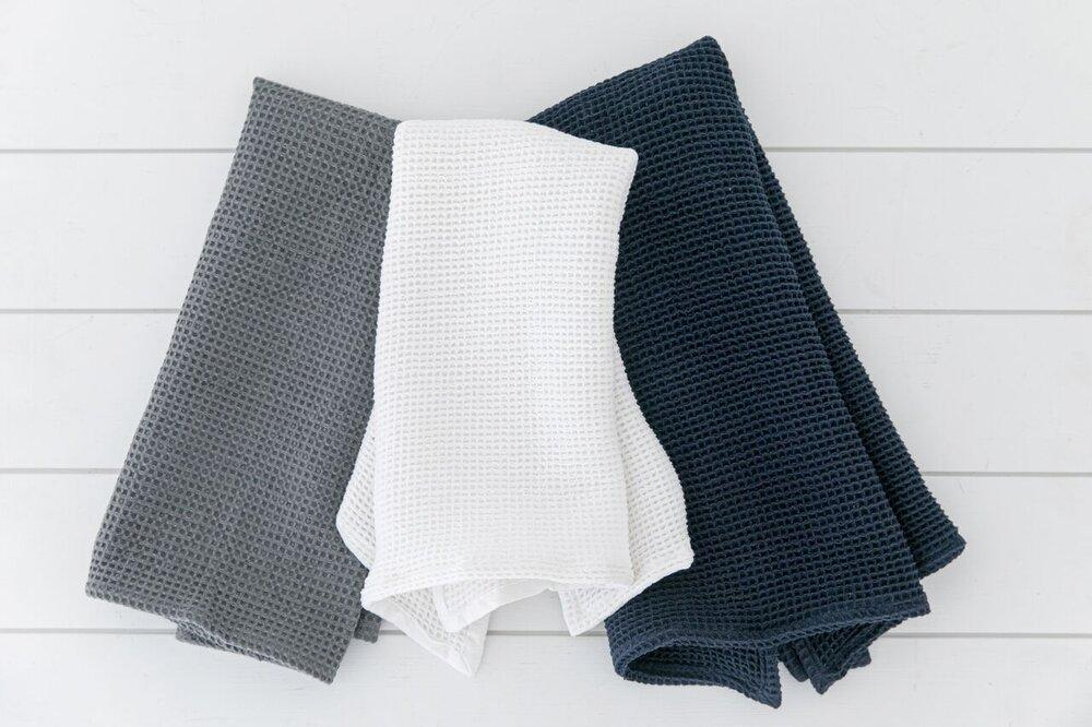 Waffle Weave Collection - Tea Towel-Heirloomed