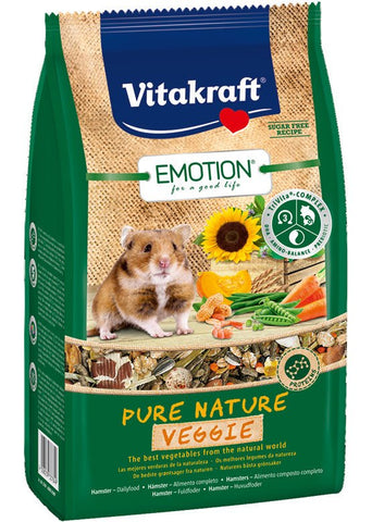 Hamsterfoder, sukkerfri, Emotion® Pure Nature Veggie