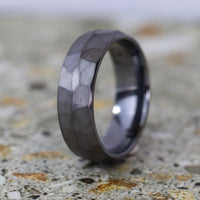 Hammered Effect Tantalum Wedding Ring - The Rivelin Valley