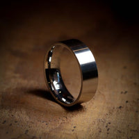 Flat Matt/Satin Sheffield Steel Wedding Ring - The Norfolk Ring