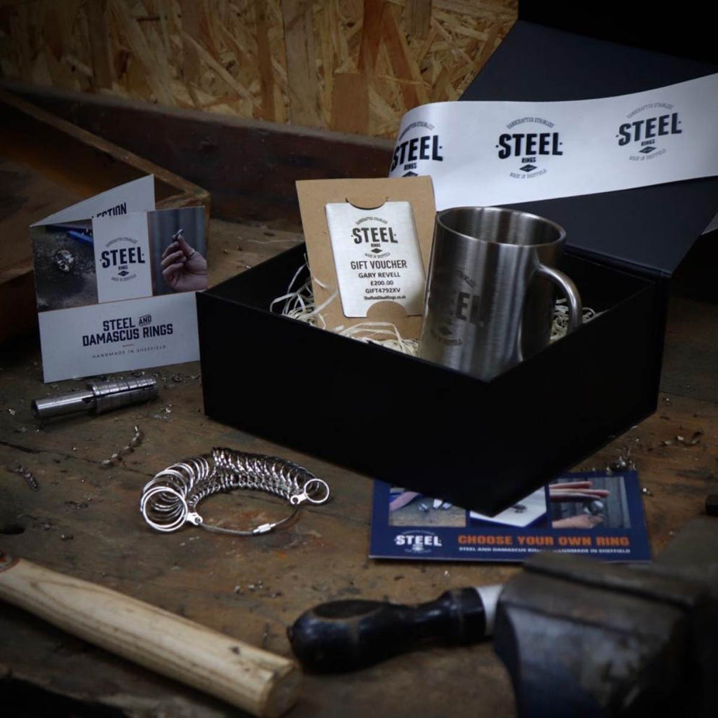 Sheffield Steel Rings & Cufflinks - Gift Card Fixed Price